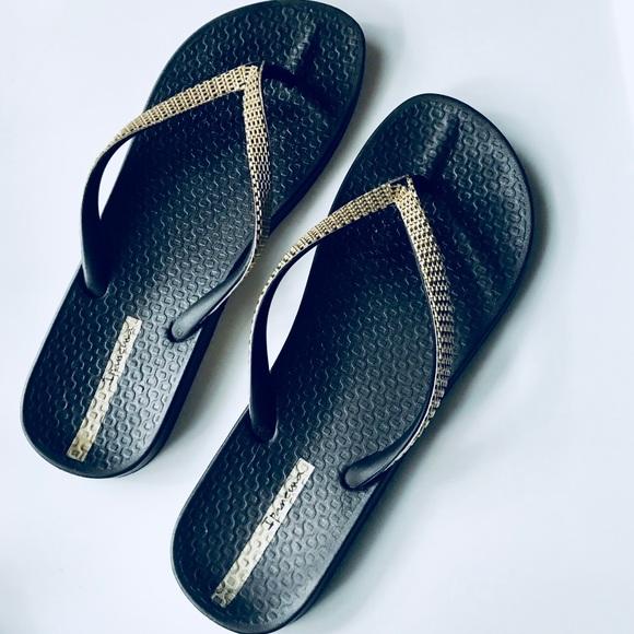 e45a232c4 Ipanema Black Gold Summer Beach Flip Flops